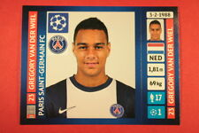 PANINI CHAMPIONS LEAGUE 2013/14 N. 184 VAN DER WIEL PSG BLACK BACK MINT!