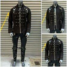Men's Black | Silver Handcuffs & Brooches Fashion Jacket