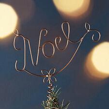 Anthroplogie Noel Christmas Tree Topper Metal Holiday Decor New