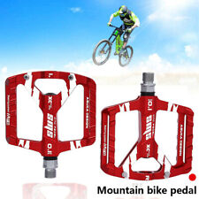 2X Aluminum Alloy MTB Flat Platform Mountain Bike Pedals Bicycle Pedals Red AU