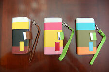 New Wallet Card Holder Leather Phone Flip Case Cover For Apple IPhone 5 5S-USA!