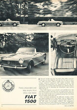 1963 Fiat 1500 - Road Test - Classic Article D171
