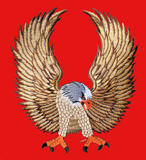 LARGE HUGE BIG BROWN EAGLE IRON PATCH Embroidered Iron on Patch Free Postage