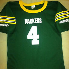 GREEN BAY PACKERS # 4  VINTAGE FOOTBALL JERSEY BY HUTCH  SIZE YOUTH MEDIUM