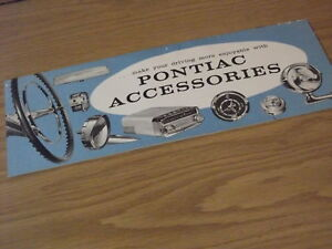 58 1958 Pontiac Bonneville Star Chief Safari Accessory Booklet VGC 14P ORIG!