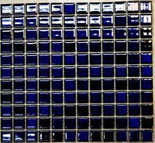 DEEP SAPPHIRE BLUE STONEWARE MOSAIC TILES 25mm x 25mm (300 x 325mm sheet ) LNG80