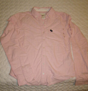 Abercrombie kIDS LS girls L XL  Button Down Collared Shirt was$49 NEW 5 colors