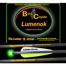 "Burt Coyote Lumenok 20"" Carbon Bolt Green Crescent End 3pk 00310 BECC3G Crossbow"