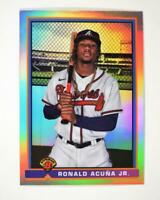 2021 Bowman 1991 Chrome Base #91B-RA Ronald Acuna Jr. - Atlanta Braves