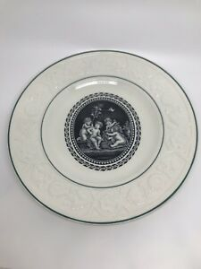 TWO WEDGWOOD  Patrician Cherubs Porcelain Plates 9 3/8 in dia. Lot Two Plates.