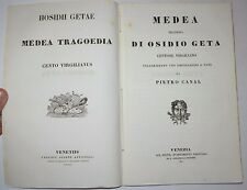 TEATRO LATINO - ediz. 1851 - Medea - testo latino italiano