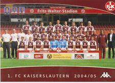 Postcard / Teampicture 1.FC Kaiserslautern 2004-2005