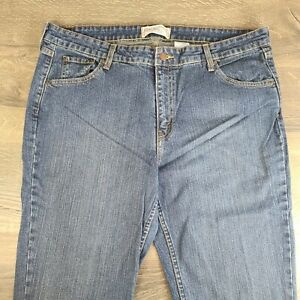 Levi's Strauss Signature Stretch Low Rise Bootcut Misses 18 Medium Blue Jeans