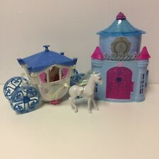 Mattel Cinderella Mini Doll Castle and HTF White Carriage with Horse, 2011, 2012