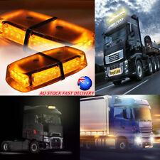 24 LED Car Truck Emergency Strobe Beacon Light Bar Warning Lamp Amber 12V NEW