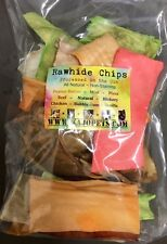 2 Rawhide MULTI-Flavored Bag CHIPS Dog Chews 2lb (32oz) Sealed Package Natural