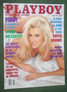 Playboy June 1994 POM Elan Carter POY Jenny McCarthy Garth Brooks  interview