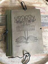 1925 Antique Botany Pressed Flower Plant 39 Specimen Album The Atlas Herbarium