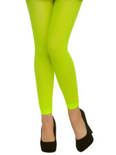 Adult Footless Tights Neon Green 1980s Ladies Fancy Dress Accessory Hen Party