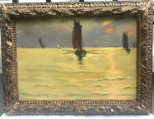 Georges Boisselier (1876-1943) - Voiliers Au Soleil Couchant - Bretagne, 1910