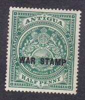 Antigua 1916 - 1/2d Green War Stamp - SG52 - Mint Hinged (E5B)