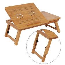 Bambus Laptoptisch Betttisch Pflegetisch Klapptisch rutschfest Schublade Life 02