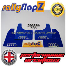 rallyflapZ  AUDI TT Coupe (1999-2006) Mud Flaps Mudflaps Blue 3mm PVC Rings Logo