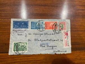 1948 China ROC Shanghai to Holland Registered Airmail Cover