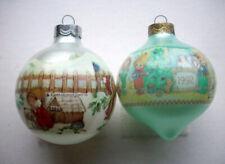 2 Vintage Hallmark Christmas Ornament balls Betsey Clark 1989 1992