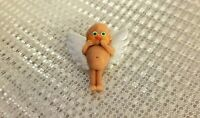 BROACH DOLL POLYMER CLAY OOAK MINIATURE SILVER WINGS TINY ANGEL NEW HANDMADE NEW