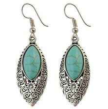 Women Lady Retro Boho blue turquoise Ethic Bohemian Party Earrings Ear Hook Drop