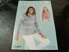 Sirdar Flurry Chunky Pattern 7958 Sweaters