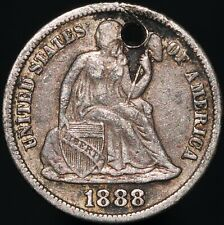 More details for 1888 | u.s.a. seated liberty one dime 'engraved e.g.c.' | silver | km coins