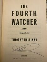 The Fourth Watcher by Timothy Hallinan Signed 1st Paperback Like New Poke Raffe