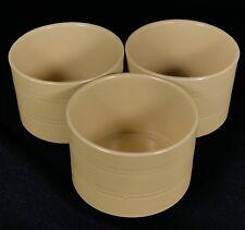 "3Over And Back Yellow Ware Crocks Bowls Ramekins Dish Custard Cup 3.5"" Diameter"