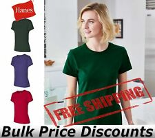 Hanes Nano-T Women's T Shirt pre-shrunk 100% ringspun cotton SL04 up to 3XL