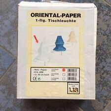 Tischleuchte Lampe Tischlampe Reispapier Orient Papier Weiß Design Lounge NEU