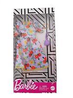 Barbie Moda Traje Completo para Muñecas -Flor Vestido, Bolsa & Cadena