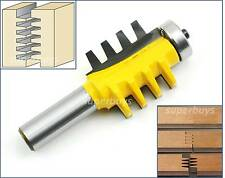 Finger Joint Reversible Router Cutter Bearing Drill Bit Comb Glue Box CNC Tool
