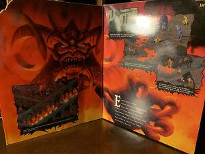 DIABLO Vintage Windows 95 PC Game Big Box Complete W/ Manual & Inserts