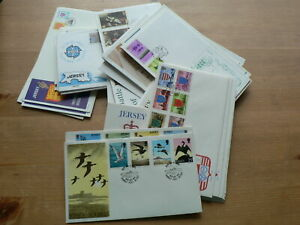 Jersey First Day Covers , 1975 - 1986, Multi-Listing, Year Groups, No Address