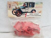Airfix Bagged 1/32 1907 Lanchester Landaulette Vintage Car Model Kit Red Stripe