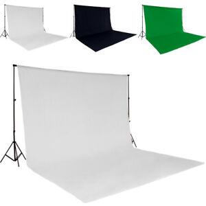 Support de fond studio photo tissu 3x6m kit + sac