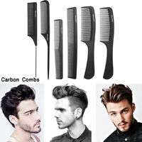 6 Types Carbon Combs Hairdressing Brush Haircut Hair Salon Styling Barber Comb