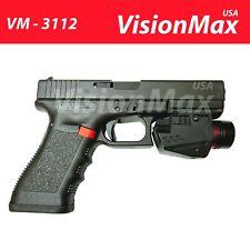 LED Flashlight Red Laser 12mm Rail Fits Rifle Pistol Glock 17 19 20 21 22 23 30
