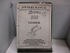 Koyker 600 Loader Owners Manual
