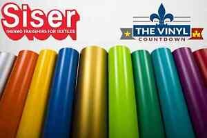 "SISER EasyWeed Heat Transfer Vinyl 12"" x 5ft HTV / 5 Foot Roll / Free Shipping"