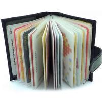 Vente de luxe des hommes en cuir noir porte-cartes de crédit portefeuille