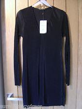 Zara W & B Black Lined Mini Dress Size S NEW (tags) RRP £25.99 (Ref ) Ex Con