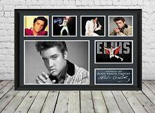 Elvis Presley Signed Photo Print Autographed Poster Memorabilia